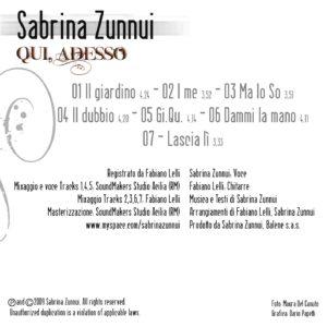 """Sabrina Zunnui, CD """"Qui Adesso"""""""